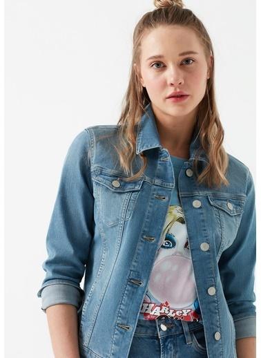 Mavi Jean Ceket | Daisy - Yarı Dar Kalıp Mavi